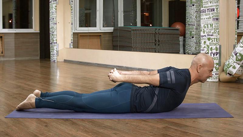 йога для начинающих - Ардха Шалабхасана